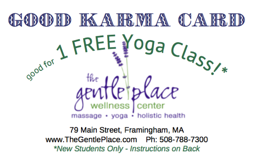 Goldstar Karma Code >> Paying Forward Good Karma Gentle Place Wellness Center