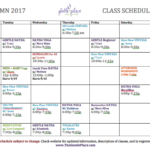 Yoga Classes Schedule