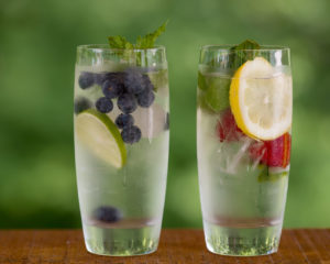 infused water makes a delicious and healthy summer drink.