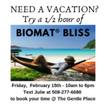 Take a mini vacation with the Biomat